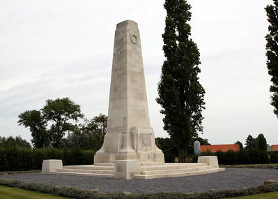 New Zealand Divisional Memorial at Gravenstafel marking the New Zealand involvement in the battle of Broodseinde (4th October 1917) which was an early part of what is generally called the 3rd Battle of Ypres (Passchendaele).