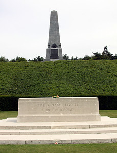 The Battle Memorial of the 5th Australian Division within Buttes New British Cemetery at Polygon Wood.