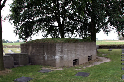 German pillbox within Langemarck German Cemetery.