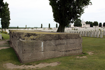 German pillbox (one of three) within Tyne Cot Cemetery.