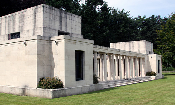 The New Zealand Memorial to the Missing at Buttes New British Cemetery at Polygon Wood.