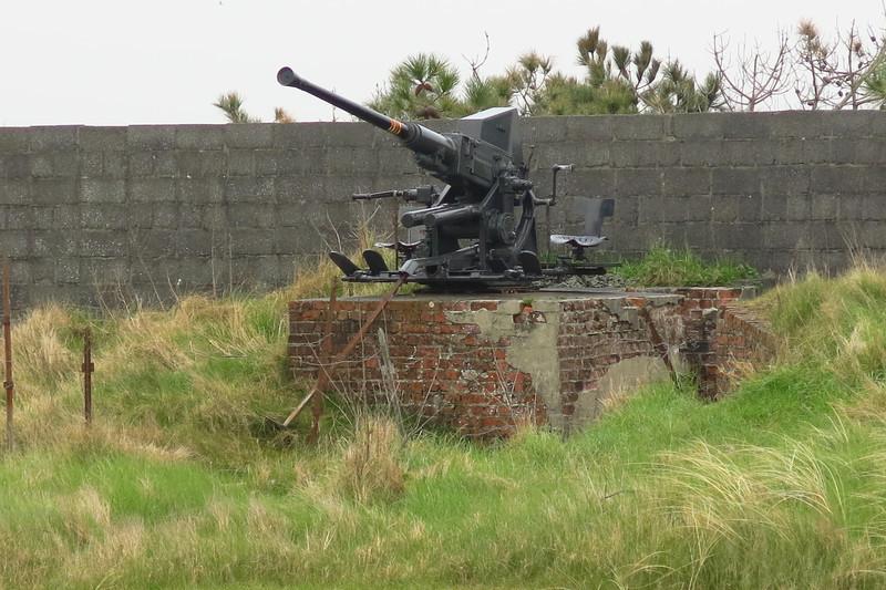 coastal defense guns facing the North Sea