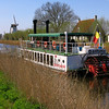 The river boat 'Lamme Goedzak' runs between Bruges and the center of Damme.