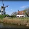 windmill along the Damme/Brugge canal