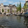 Many elegant residences line the canals.