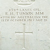 Tombstone for Australian Christian soldier.