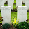 Tombstones for two of many unknown soldiers.
