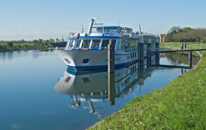 April 29, docked at Veere, Netherlands.
