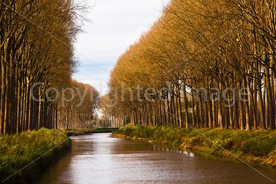 A rural canal near Damme Belgium