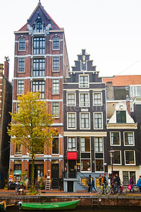 Houses by the canal in Amsterdam