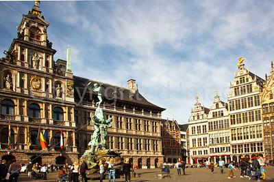 City Hall in the Grote Markt in Antwerp