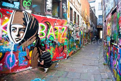 Grafitti Street in Ghent