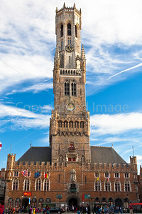 Tower and Market Hall in Bruges