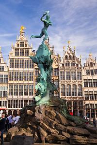 Barabo Fountain in Antwerp