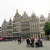 Also bordering the Grote Markt are the guild houses which celebrated the trade associations of the city's various industries.  Each is topped by a golden statue, usually representing the guild's patron saint.