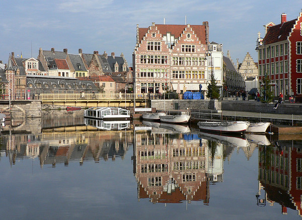 Reflections in the Leie River