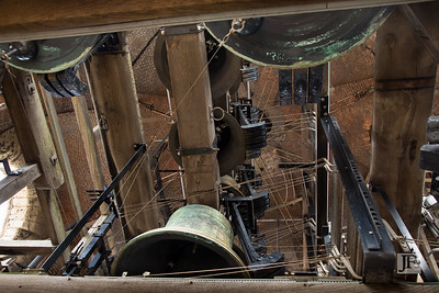 Bell workings of the Belfry in Bruges