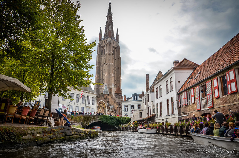 View of Church of Our Lady from the canal