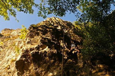 Climbing at Freyr (Ardennes)