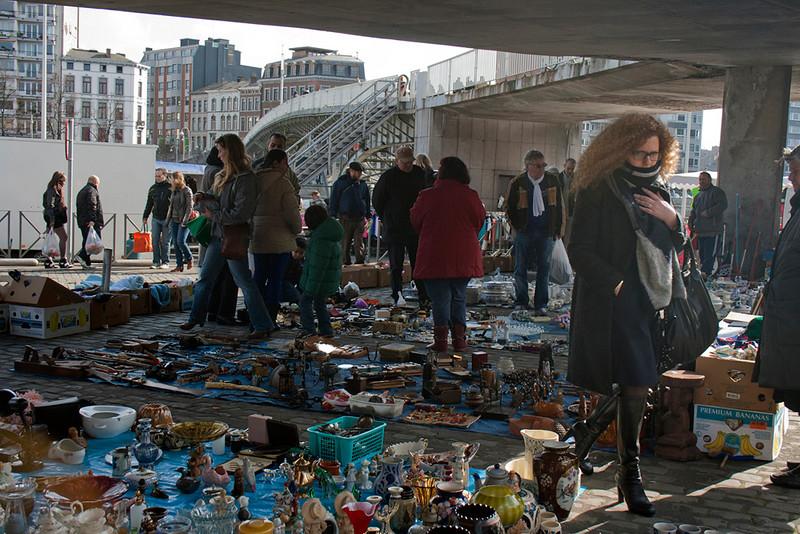 Liege, Sunday market