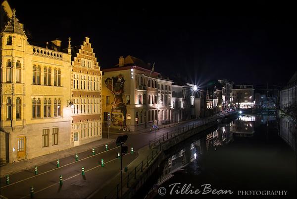 Ghent, Belgium. Predikherenlei