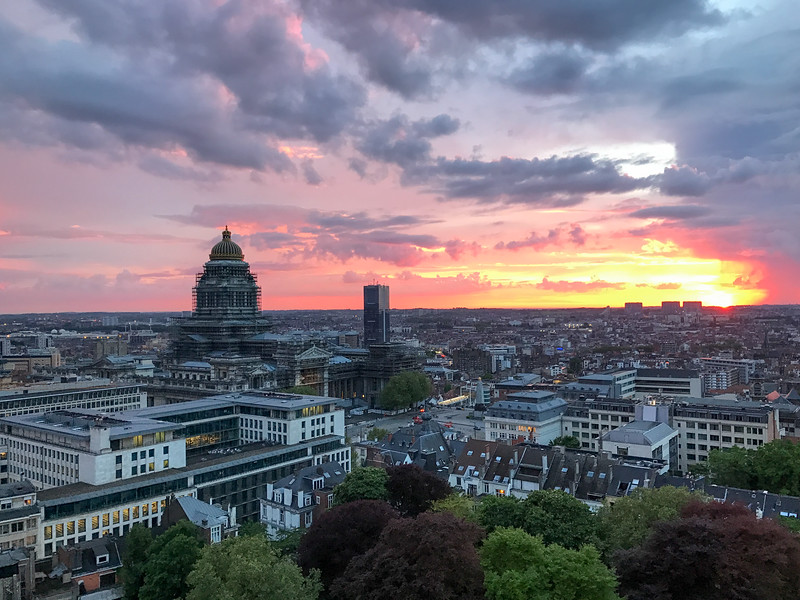 Brussels Skyline at Sunset