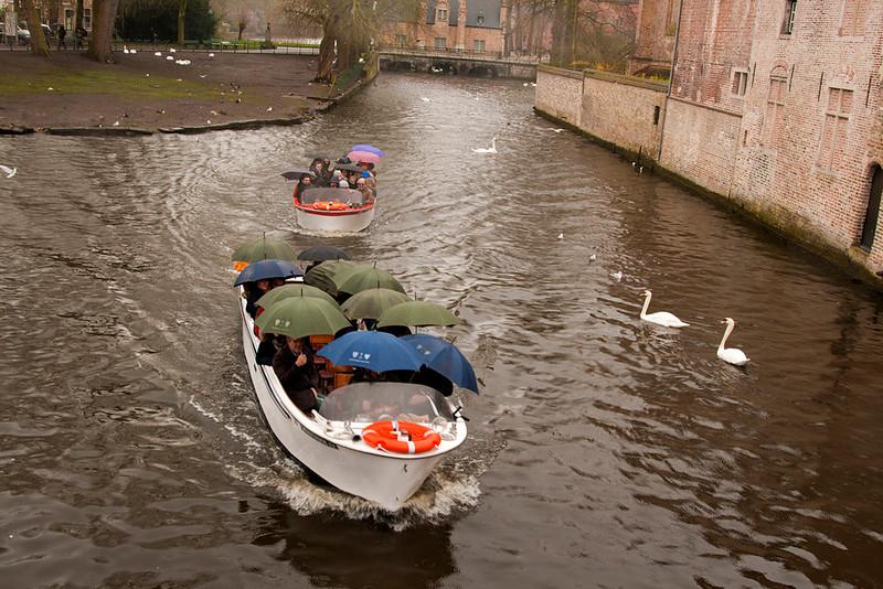 even in the rain the boat rides continue