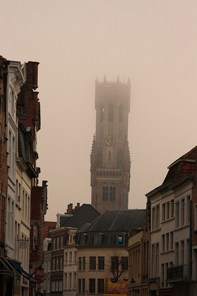 Belfry in the mist