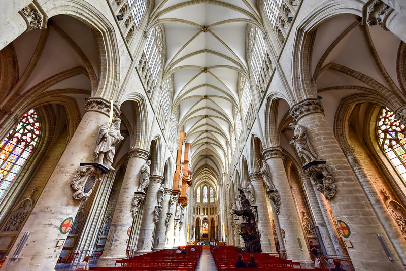 St. Gudula Cathedral, Brussels, Belgium