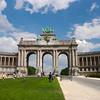 Triumphal Arch, Cinquantenaire Park, in Brussels, Belgium