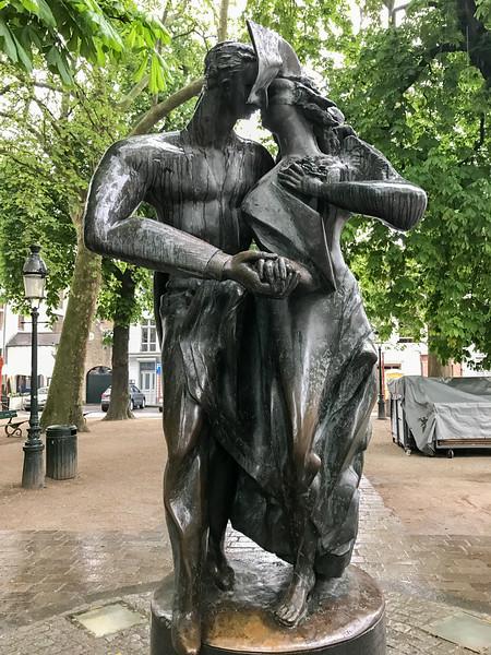 Lovers Statue - Bruges, Belgium