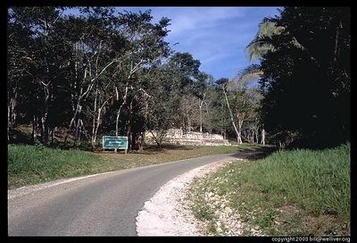 The road to Xunantunich