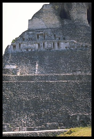 View of the frieze on the main pyramid
