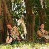 Belize 2007: Tikal - Tusa, Ayanaquinn & Emma