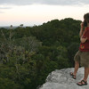 Belize 2007: Tikal - Sunset from the top of a Tikal pyramid, on a side trip to Guatemala.