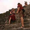 Belize 2007: Tikal at sunset; a tricky descent