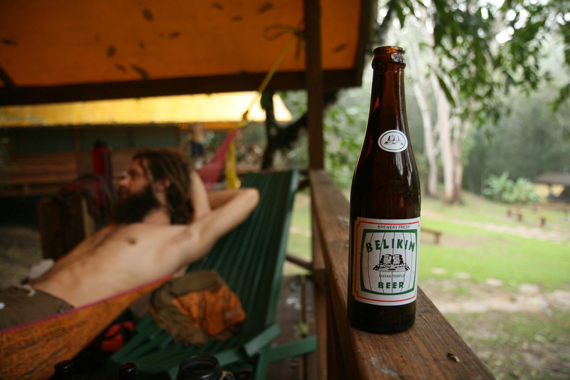 Belize 2007: Chaa Creek - Enjoying a Belikin at Chaa Creek Camp