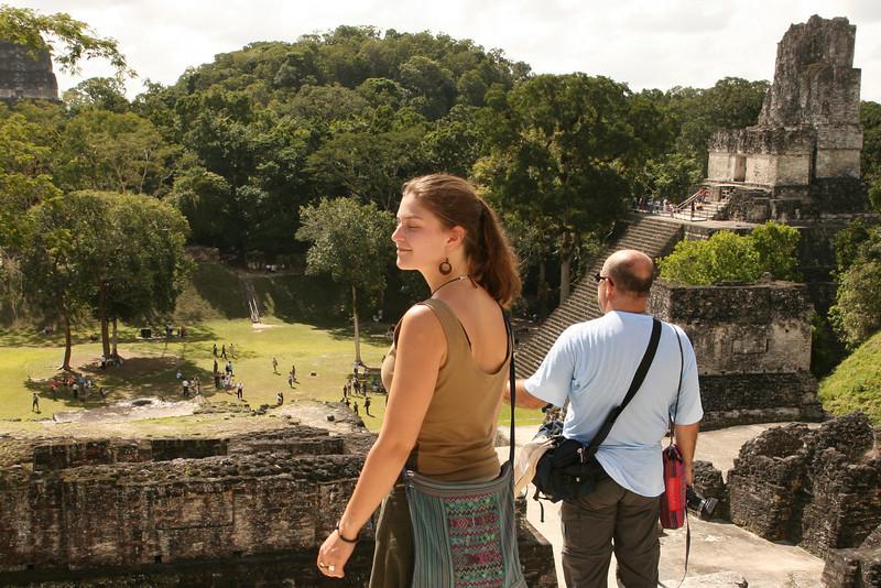 Belize 2007: Tikal - Emma taking it in