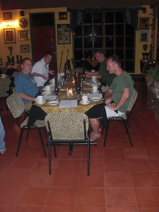 Preparing for dinner at Jaguar Paw, a resort in the middle of the jungle.