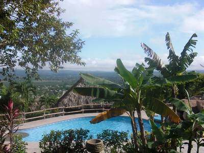 The pool at Cahal Pech Village, our hotel in San Ignacio.