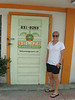 Carly in front of belizemanagement.com, a friend's business