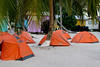 Came across a tent city on Tobacco Caye