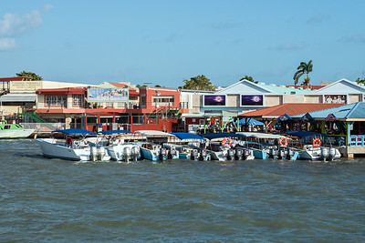 Boats in harbour of Belize City