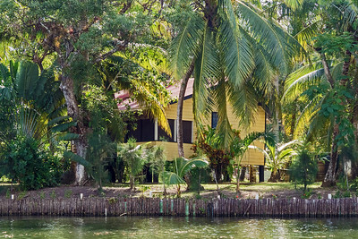 Buildings along Belize River