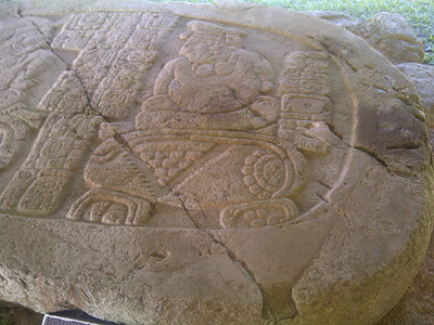 Stela relating the victory of Caracol over Tikal