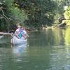 Emmanuel, Heather and Talia in one canoe