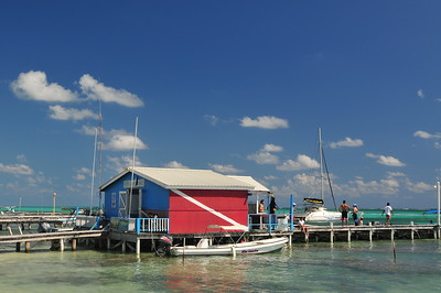 © Joseph Dougherty. All rights reserved.  Reef Adventures dive shop in San Pedro, Ambergris Caye, Belize.