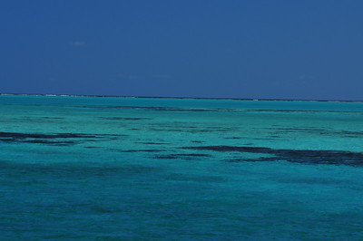 © Joseph Dougherty.  All rights reserved.   The clear waters of Lighthouse Reef Atoll, a UNESCO World Heritage Site.