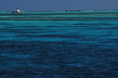 © Joseph Dougherty.  All rights reserved.   The azure blue waters of Lighthouse Atoll.