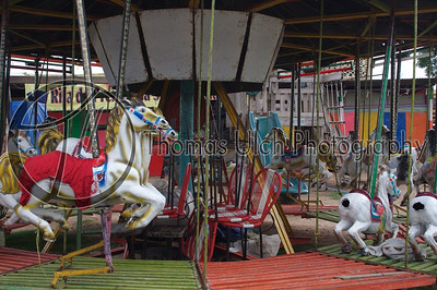 A small carnival about 45 minutes from San Ignacio. The carousel was not moving but you really get a sense of motion from the photo. Belize.